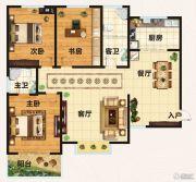 翡翠庄园3室2厅2卫124平方米户型图