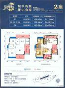 葵湖壹号3室2厅2卫103--109平方米户型图