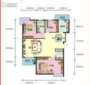 上上坊3室2厅2卫131平方米户型图