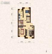 建龙・班芙小镇2室2厅1卫64平方米户型图