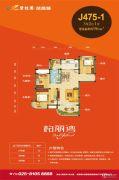 碧桂园凤凰城3室2厅1卫96平方米户型图