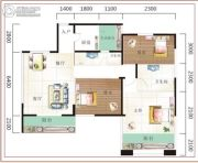 诚易佳和时代3室2厅2卫107平方米户型图