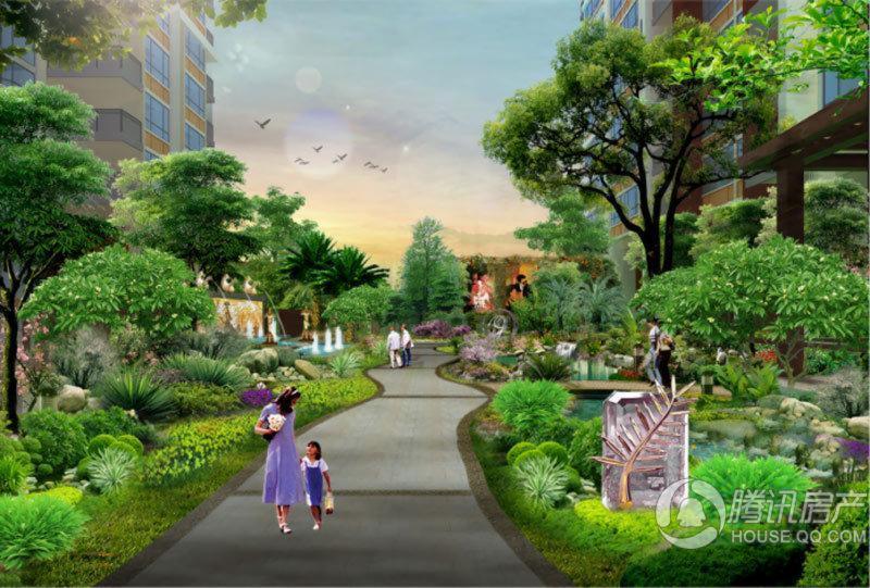 中珠上郡一期园林效果图