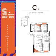 中骏・尚城3室2厅2卫104--110平方米户型图