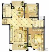 诚河新旅城2室2厅1卫95平方米户型图