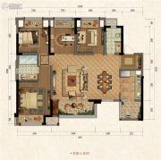 融创江南融府4室2厅2卫0平方米户型图