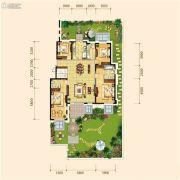 金地檀府4室2厅3卫168平方米户型图