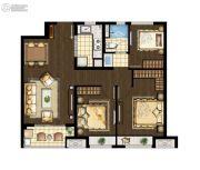 万科海上传奇3室2厅1卫96平方米户型图