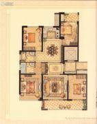 华鸿・艺墅4室2厅2卫125平方米户型图