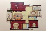 润和・滟澜湾 多层3室2厅2卫133平方米户型图