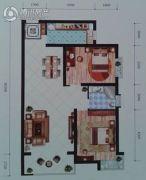 远达锦绣半岛2室2厅1卫108平方米户型图