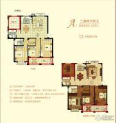 金桥花园3室2厅2卫126平方米户型图