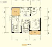 广泰锦苑3室2厅2卫108平方米户型图