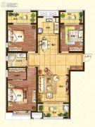 济南世茂天城3室2厅1卫123平方米户型图