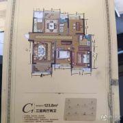 茂业锦园 高层3室2厅2卫123平方米户型图