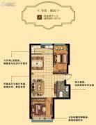 馨逸之福2室2厅1卫71平方米户型图