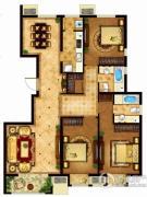 懿品府3室2厅2卫145平方米户型图