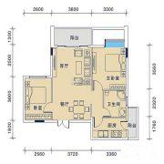 御�Z华庭2室2厅1卫73平方米户型图