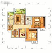 中泰美域3室2厅1卫97平方米户型图