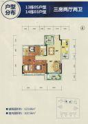 卧龙五洲世纪城123平方米户型图