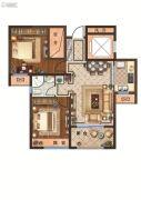 月桥花院2室2厅1卫89平方米户型图
