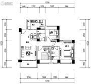 华发城建未来荟3室2厅2卫87平方米户型图