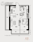 市府・和鸿广场1室1厅1卫78平方米户型图