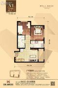 丹东万达广场2室1厅1卫61平方米户型图