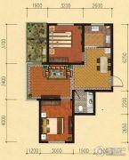 鞍山东亚第一城四五期2室2厅1卫79平方米户型图