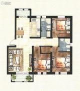 东方国际城3室2厅2卫116平方米户型图