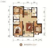 众美凤凰府3室2厅2卫132平方米户型图