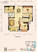天鸿中央大院3室2厅2卫102平方米户型图