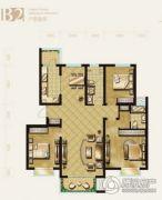 盛泽伯爵山3室2厅2卫138平方米户型图