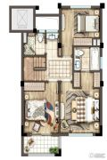 灏景湾3室2厅2卫137平方米户型图