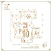 丽丰铂羽公馆3室2厅2卫115平方米户型图