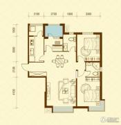 华荣泰时代COSMO2室2厅2卫115平方米户型图