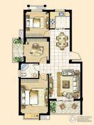 峰景湾3室2厅2卫95平方米户型图