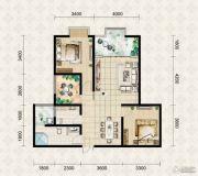翱达公馆2室2厅1卫92平方米户型图