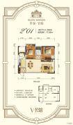 华泰官邸2室2厅1卫77平方米户型图