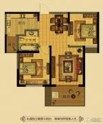 金鼎名府2室2厅1卫85平方米户型图