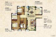 中南锦城3室2厅2卫127平方米户型图