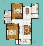鸿泰・花漾城2室2厅1卫116平方米户型图