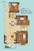 松江帕提欧3室2厅1卫97平方米户型图