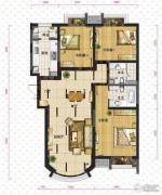 新华联运河湾3室2厅2卫136平方米户型图