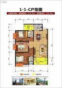 博望龙庭3室2厅2卫124--138平方米户型图