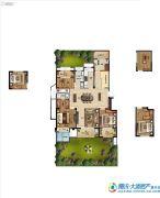 金地艺境3室2厅2卫123平方米户型图