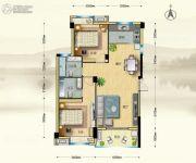 博大江山如画二期2室2厅1卫104--105平方米户型图