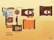 世纪城金域华府2室2厅1卫89平方米户型图