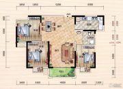 世界城3室2厅1卫114--118平方米户型图