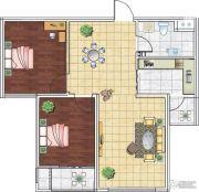 海洋・名仕公馆2室2厅1卫88平方米户型图